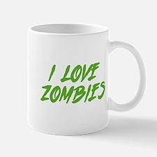 I Love Zombies Mug