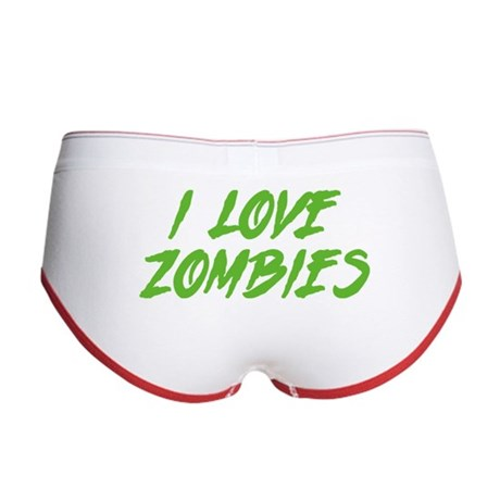 I Love Zombies Women's Boy Brief