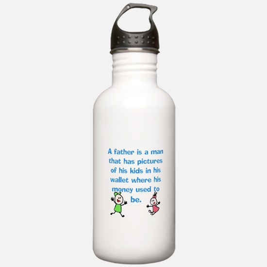 A Father is... Water Bottle