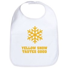 Yellow snow tastes good No.4 Bib