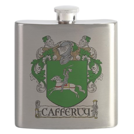 Cafferty Coat of Arms Flask