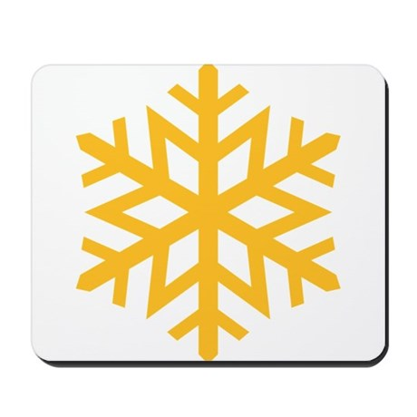 Yellow Snow Flake Mousepad