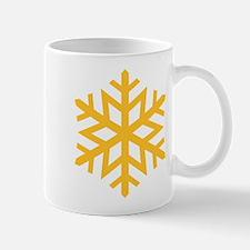 Yellow Snow Flake Mug