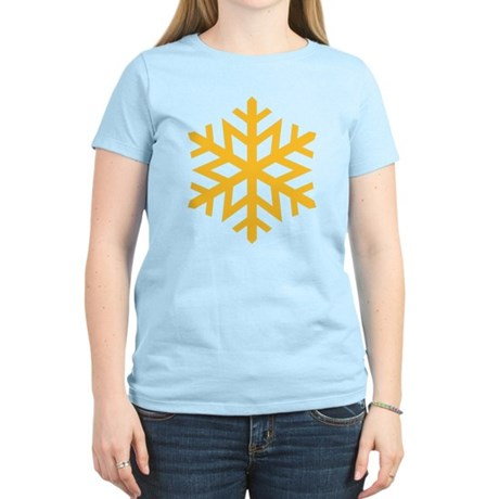 Yellow Snow Flake Women's Light T-Shirt