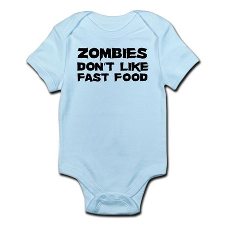 Zombies don't like fast food Infant Bodysuit