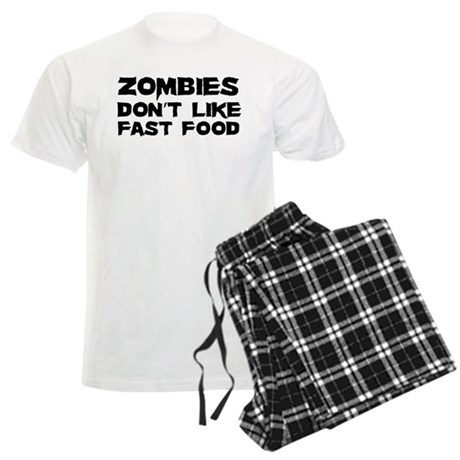 Zombies don't like fast food Men's Light Pajamas