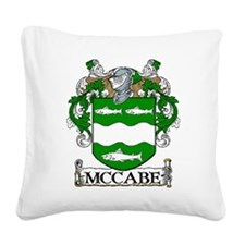 McCabe Coat of Arms Square Canvas Pillow