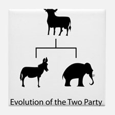 Evolution of the Two Party System Tile Coaster