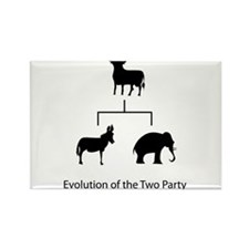 Evolution of the Two Party System Rectangle Magnet