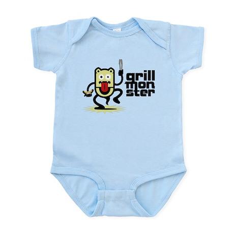 Grilling BBQ Monster Infant Bodysuit