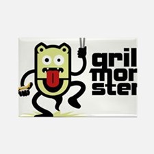 Grilling BBQ Monster Rectangle Magnet
