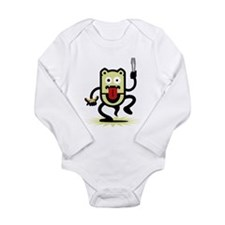 Grilling BBQ Monster (only) Long Sleeve Infant Bod