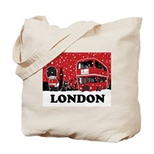 Cute London england Tote Bag