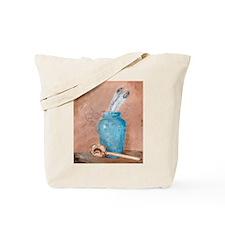 Blue Vase w/Rattle Tote Bag