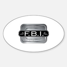 Female Body Inspector Oval Decal