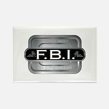 Female Body Inspector Rectangle Magnet