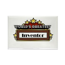 World's Greatest Inventor Rectangle Magnet