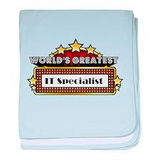 World's Greatest IT Specialist baby blanket
