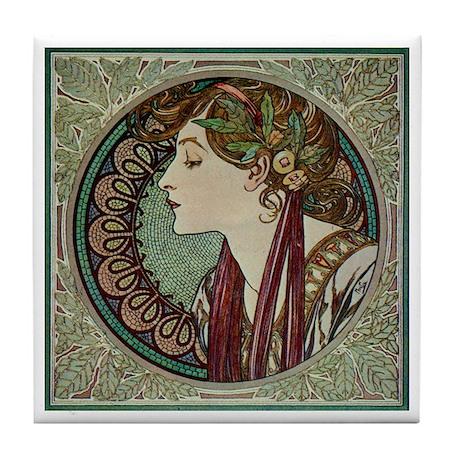 Lady of Laurel Tile Coaster