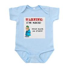 Warning: I'm Sick Infant Creeper