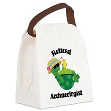 Retired Archaeologist Gift Canvas Lunch Bag