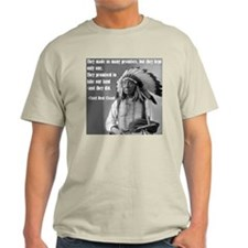 """Chief Red Cloud"" Ash Grey T-Shirt"