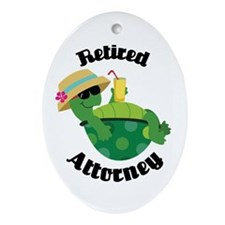 Retired Attorney Gift Ornament (Oval)