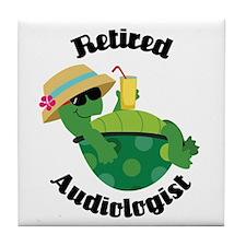 Retired Audiologist Gift Tile Coaster