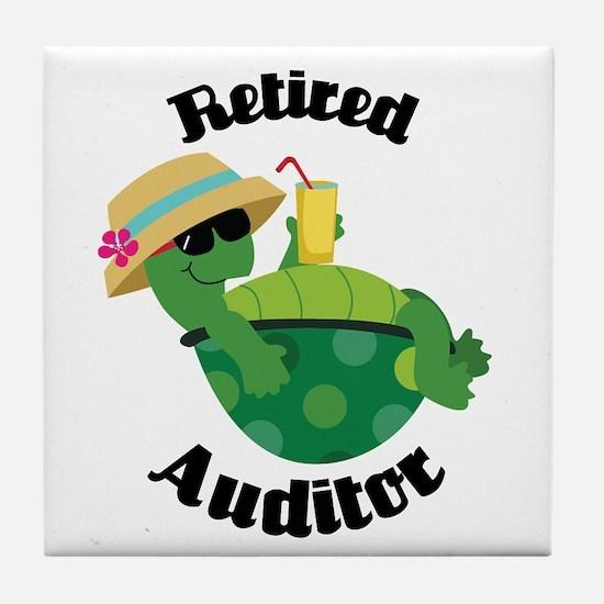 Retired Auditor Gift Tile Coaster