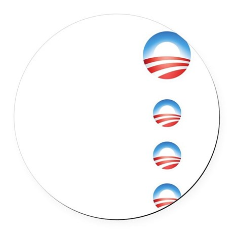 obama emblems cafepress.png Round Car Magnet