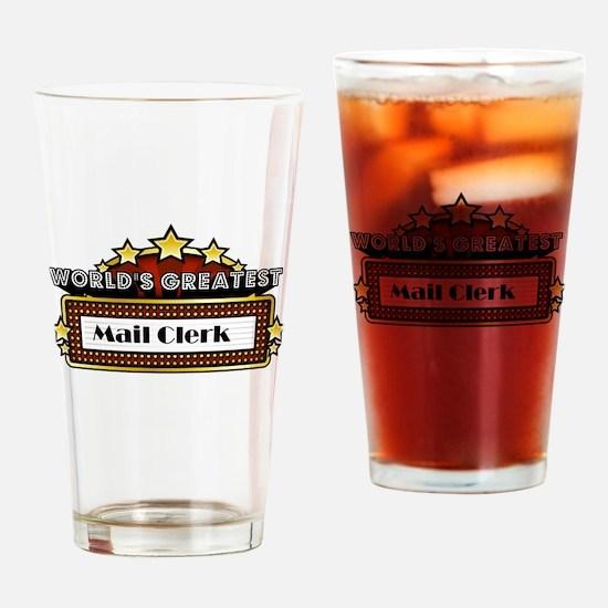 World's Greatest Mail Clerk Drinking Glass