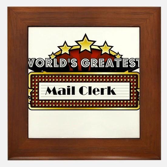World's Greatest Mail Clerk Framed Tile