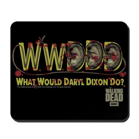 Daryl Dixon Zombie Ear Necklace Mousepad