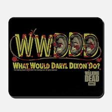 Daryl Dixon Zombie Ear Necklace Mousepad