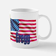 Gregg Personalized USA Flag Mug