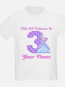 3rd Birthday Princess Blonde T-Shirt