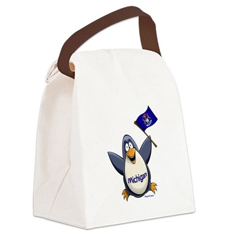 Michigan Penguin Canvas Lunch Bag