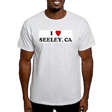 I Love SEELEY Ash Grey T-Shirt