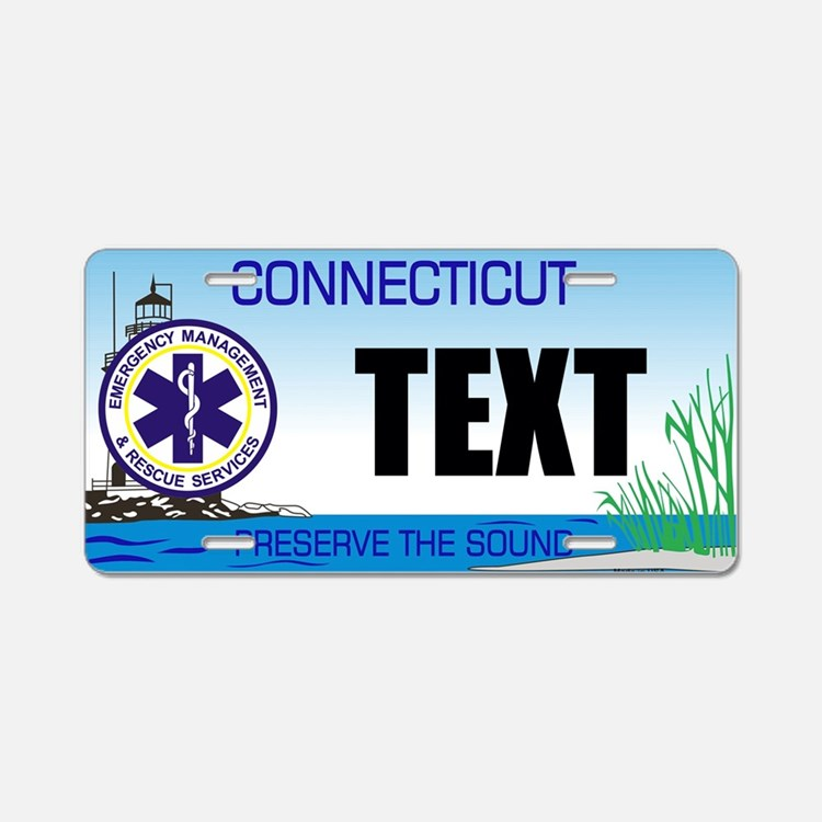 Connecticut EMS Custom License Plate
