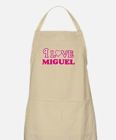 I Love Miguel Light Apron