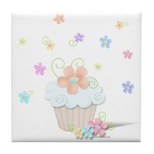 Cupcakes and Flowers Tile Coaster