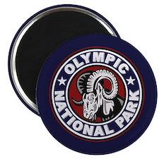 Olympic Ram Circle Magnet