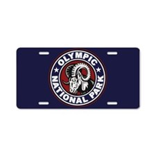 Olympic Ram Circle Aluminum License Plate
