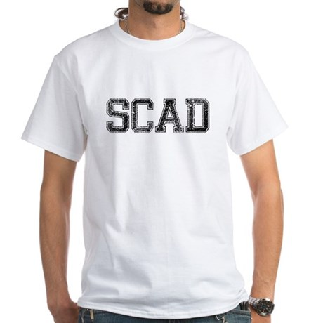 SCAD, Vintage White T-Shirt
