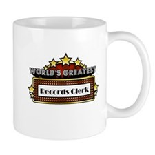 World's Greatest Records Clerk Mug