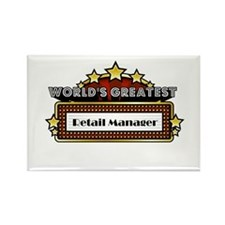 World's Greatest Retail Manager Rectangle Magnet