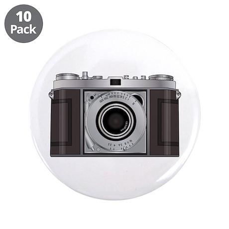"""Retro Camera 3.5"""" Button (10 pack)"""