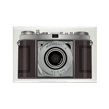 Retro Camera Rectangle Magnet (100 pack)