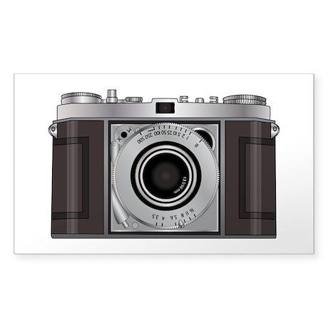 Retro Camera Sticker (Rectangle)