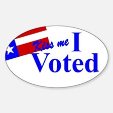Kiss Me, I Voted Decal